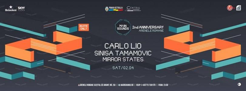 2 YEARS OF MAIN SOUNDS w/ CARLO LIO, Sinisa Tamamovic, Mirror States @ Bucharest, Romania